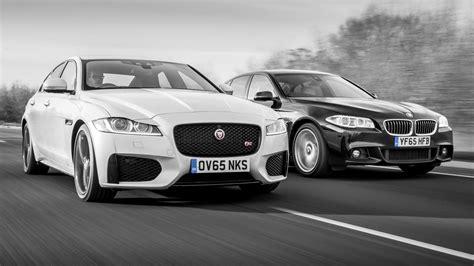 top gear review jaguar xf showdown jaguar xf vs bmw 5 series top gear