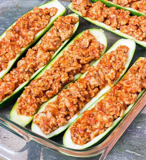 chicken parm stuffed zucchini boats zucchini boats with ground turkey