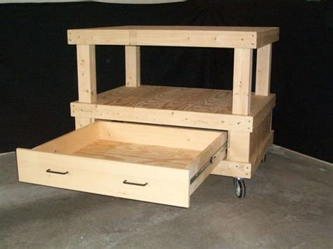 Small Cart With Drawers Small Mobile Cart With Drawer Cre8ive Home Garage Shop