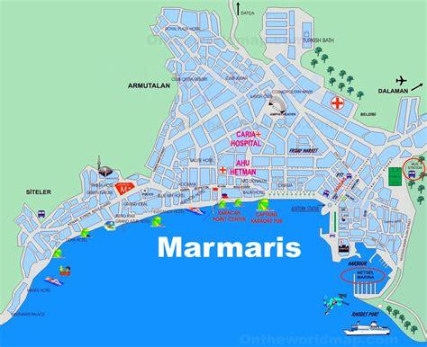printable tourist map of turkey marmaris tourist map