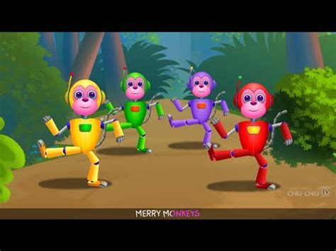 monkeys jumping on the bed youtube five little monkeys jumping on the bed part 2 the robot