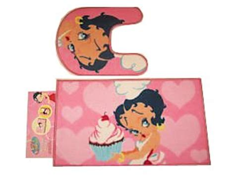 betty boop bathroom accessories amazon com betty boop pink mat bathroom set non skid