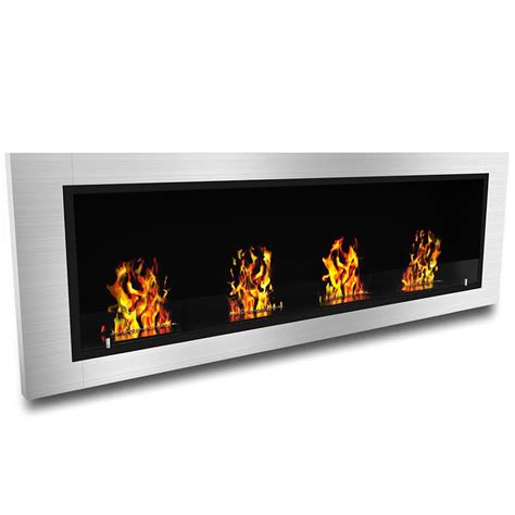 elite luxe ventless bio ethanol wall mounted fireplace