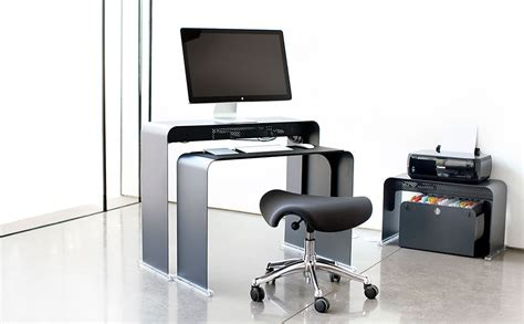 bureau ordi bureau pour ordinateur peu profond en m 233 tal onelessoffice
