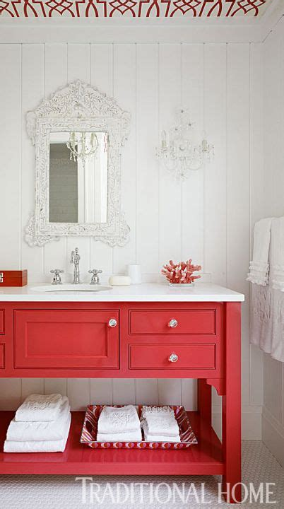 red bathroom vanity be inspired to paint your bathroom vanity a non neutral