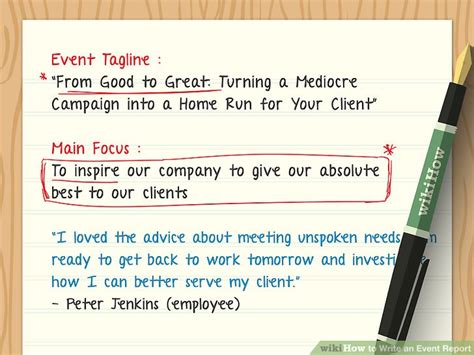 How To Write In Report Form by How To Write An Event Report With Exles Wikihow