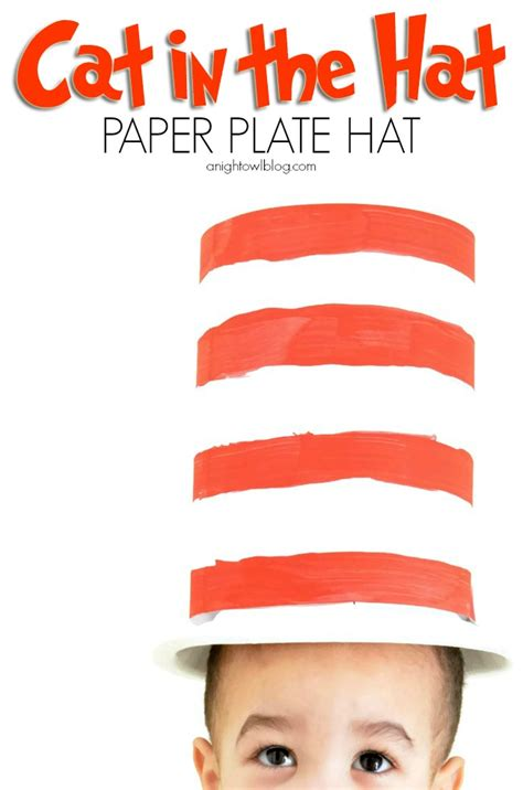 Cat In The Hat Paper Plate Craft - cat in the hat paper plate hat a owl