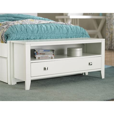 bedroom bench with drawers ne kids pulse 1 drawer bedroom bench in white 33560
