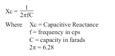 xc capacitive reactance sle problem