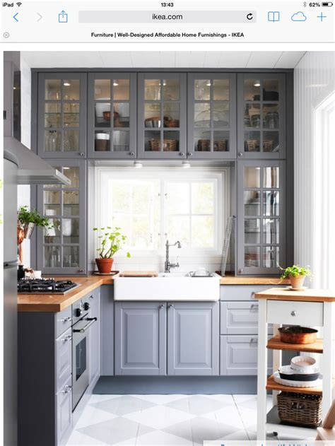 Pictures Of Kitchens With Gray Cabinets Ikea Grey Kitchen The Kitchen Kitchens Gray Cabinets Gray Kitchens And