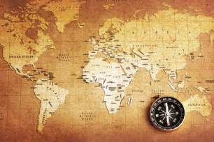 World Map With Compass by Old Compass World Map Wallpaper Wall Mural By Loveabode Com