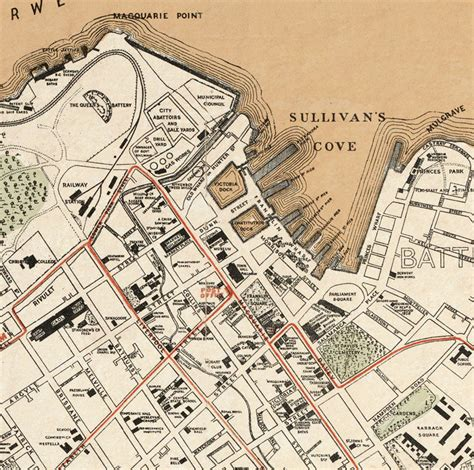 map of hobart city map of hobart australia 1893 maps and vintage