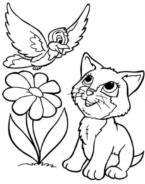 printable coloring pages kittens and puppies coloring pages of puppies and kittens coloring home