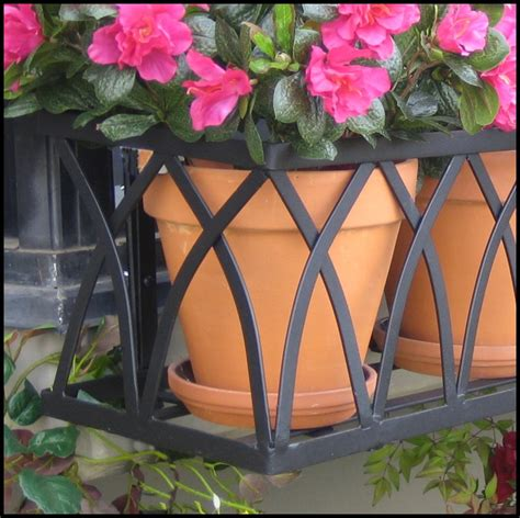 wrought iron window box cages arch window box cage accents with wrought iron