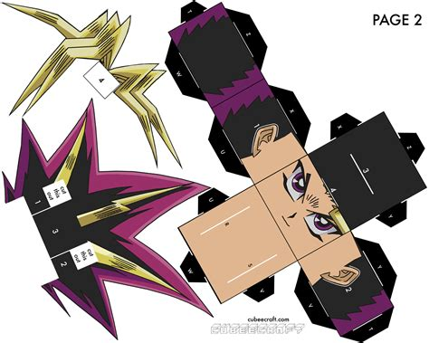 Yugioh Papercraft - yami yugi page 2 of 2 by cubeecraft on deviantart