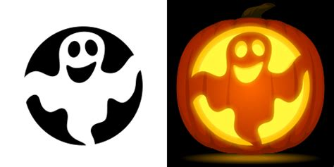 printable pumpkin stencils ghost ghost pumpkin carving stencil free pdf pattern to