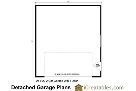 2 car garage floor plans 24x22 garage plans 2 car garage plans