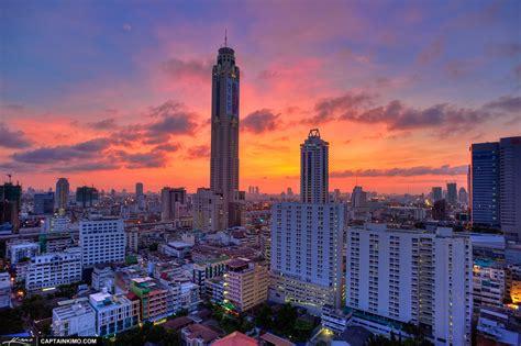 downtown bangkok thailand city building baiyoke sky hotel