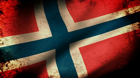 photo norway grunge flag aged red national