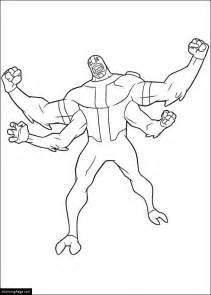 printable coloring pages ben 10 ben10 four arms coloring pages