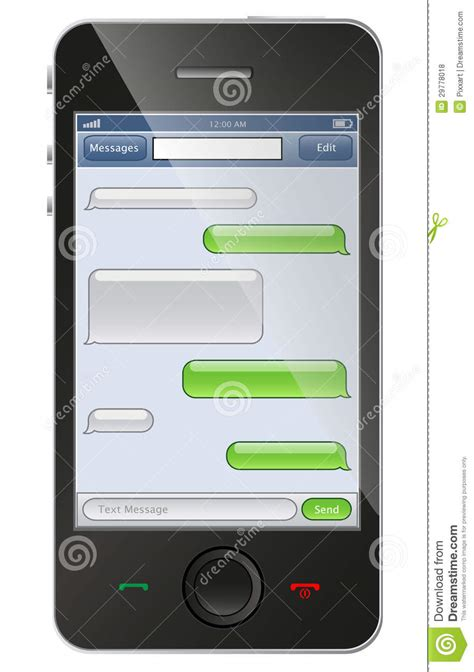 chat template phone with chat template royalty free stock photos image