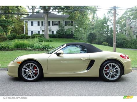 gold porsche boxster lime gold metallic 2013 porsche boxster s exterior photo