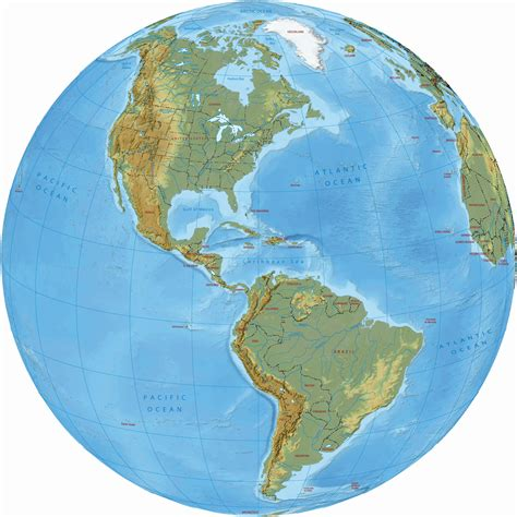 america map on globe and south america political map and globe