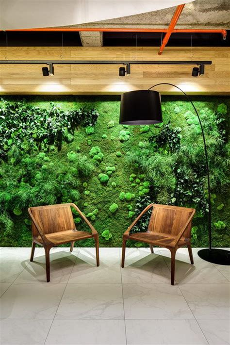 nature moss wall ideas  lounge chairs