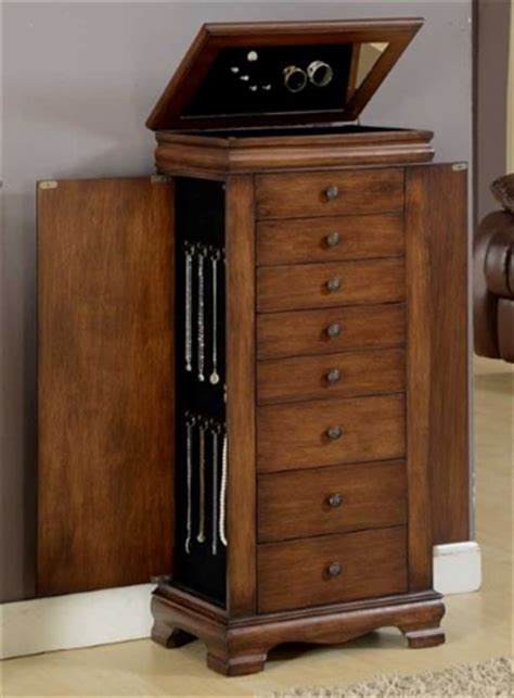 3 women and an armoire antique brown large locking jewelry cabinet