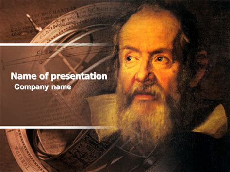 Galileo Galilei Presentation Template for PowerPoint and