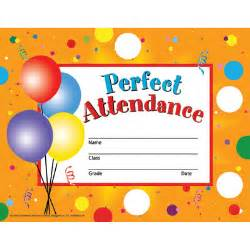 Perfect attendance certificate for kids perfect attendance 8 1 2 x