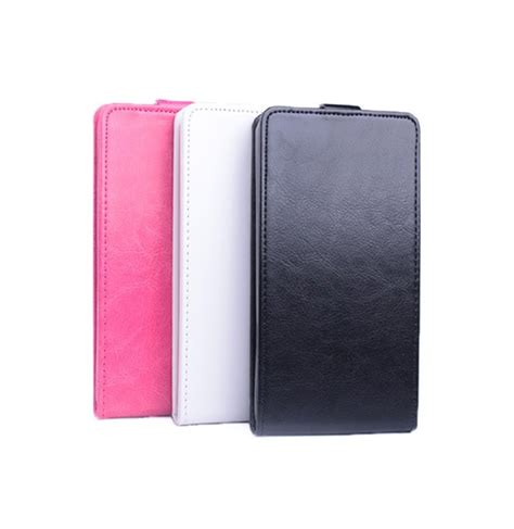 Ume Flip Cover Sony Experia E4 flip up and black white color pu leather for sony xperia e4