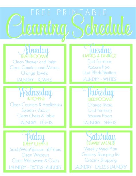 Cleaning Calendar Search Results For Printable House Cleaning Checklist