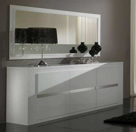 Miroir bahut blanc laque
