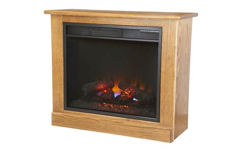 portable fireplace heater  casters  dutchcrafters amish