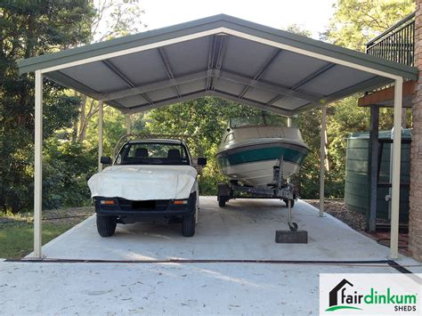 Carport Roof Designs by Gable Roof Carport Designs Fair Dinkum Sheds