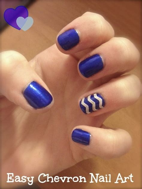 Easy Nail Art Chevron | 55 very beautiful chevron nail art design ideas
