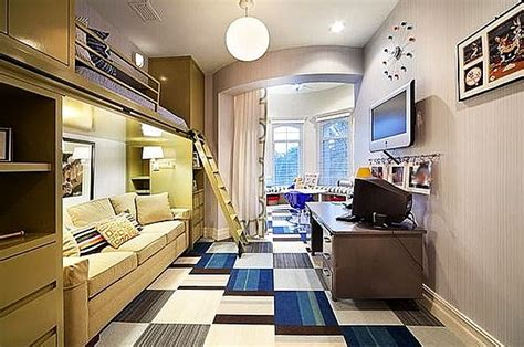 Cool Rooms For Guys Bedroom Designs Modern Bunk Beds In Boys Room