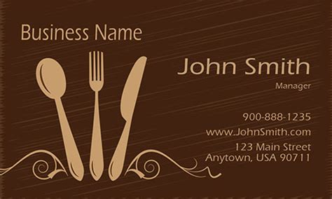 catering card template catering business cards free templates printifycards
