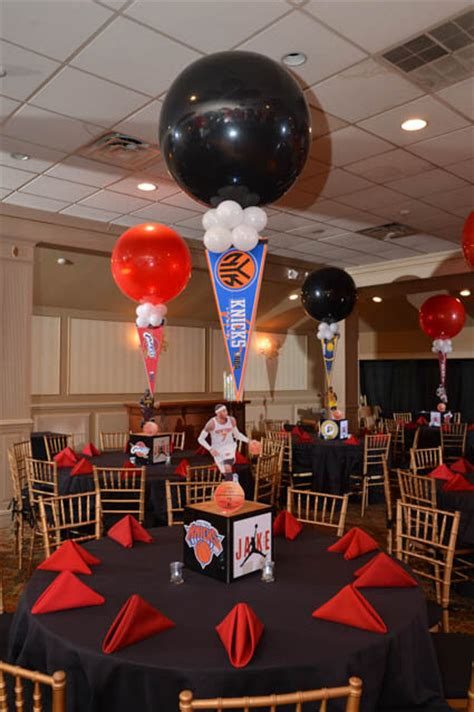 sports theme centerpieces sports themed centerpieces basketball themed bar mitzvah centerpiece sports themed