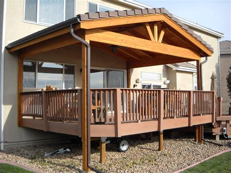 Covered Deck Addition Design Gable Roof Over Deck Deck Patio Roof Designs Plans