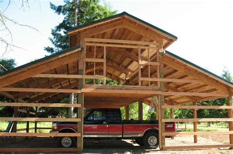 pole barn with loft plans pole barn framing google search oh the possibilities