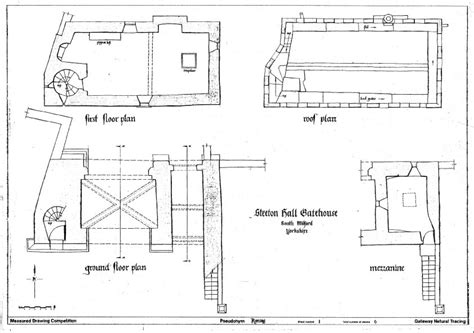 gate house plan steeton hall gateway drawing the street