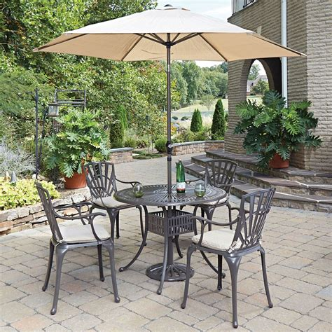 Home Styles Furniture Largo Taupe 42 Inch 5 Piece Outdoor