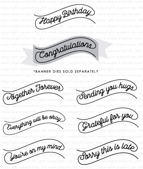 Style Stam banner style st set papertrey ink clear sts dies
