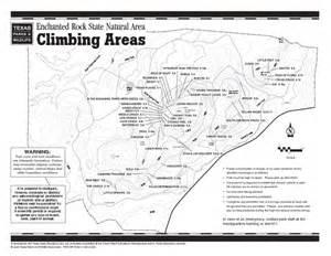 enchanted rock climbing map