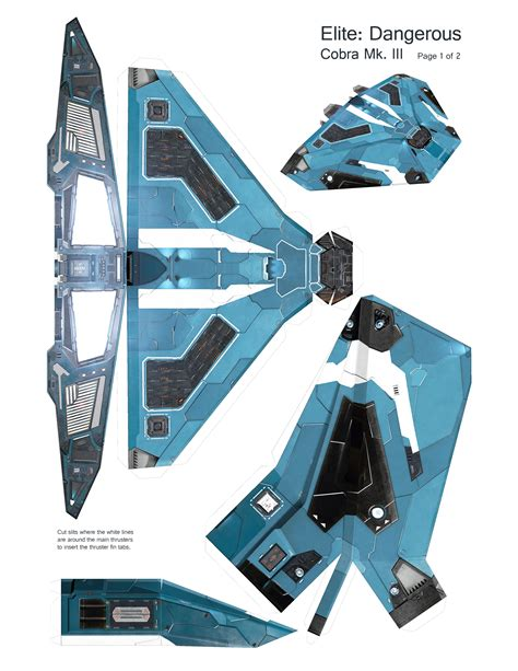 Papercraft Spaceships - elite dangerous cobra mk iii papercraft papercraft