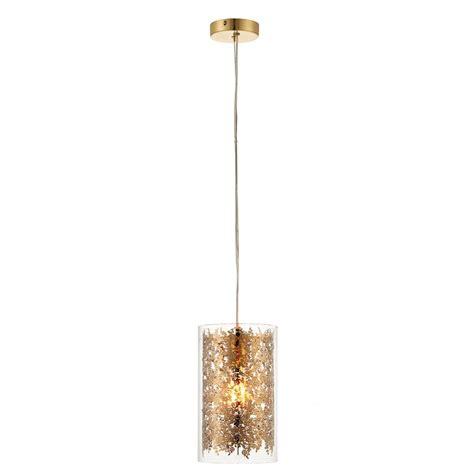 endon 70341 lacy 1 light ceiling pendant brass