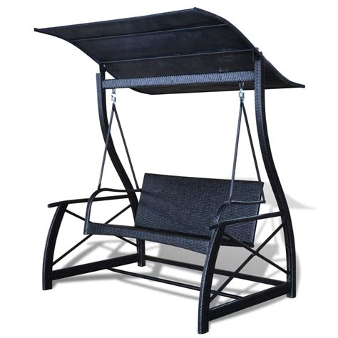 outdoor rattan swing chair outdoor hanging swing chair with roof black rattan www