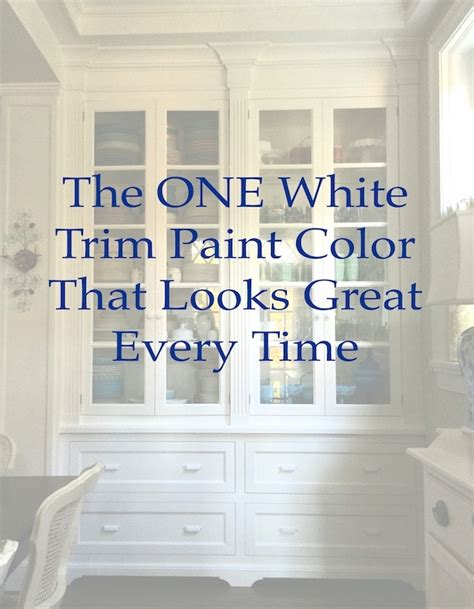 the one white trim color that works every time white trim white trim paint and benjamin